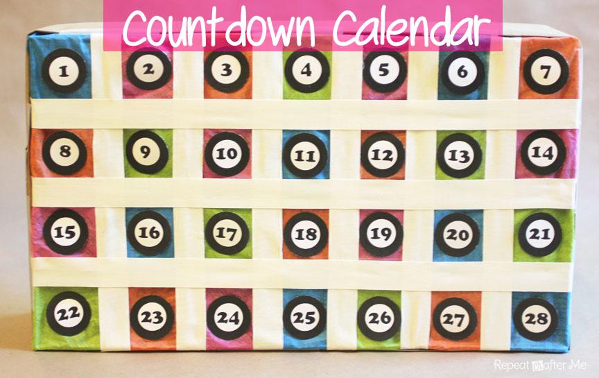 Countdown Calendar Repeat Crafter Me
