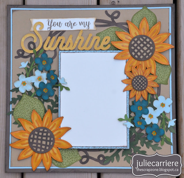 Summer Sunflower Layout