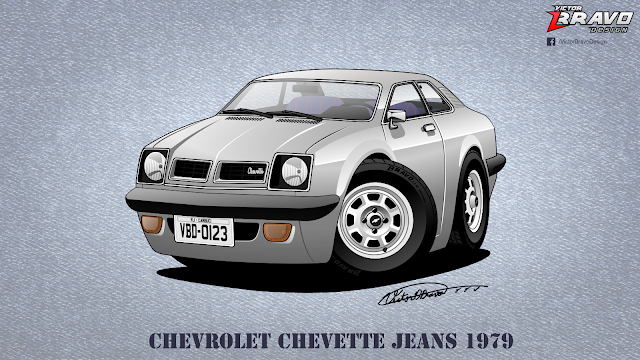 Chevrolet Chevette Jeans 1979 Cartoon
