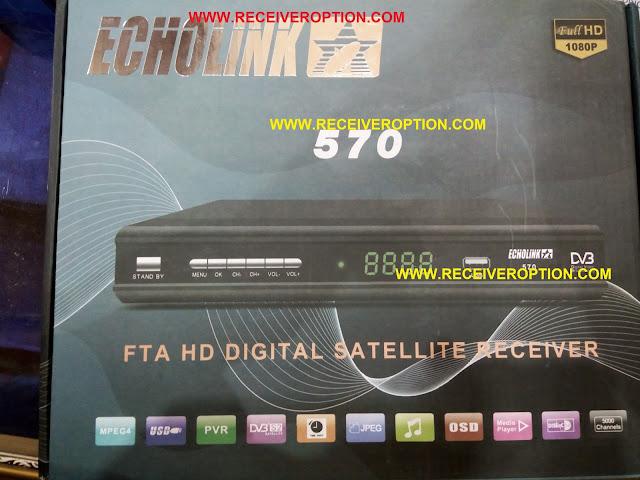 ECHOLINK 570 HD RECEIVER POWERVU KEY OPTION