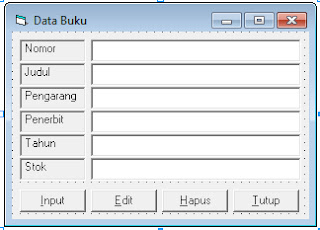 Form data buku