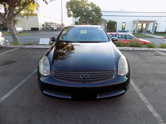 2003 Infiniti G35 Coupe with economical, enamel, single state paint from Almost Everything Auto Body.