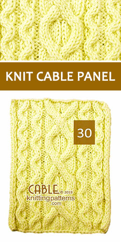 Knitted Cable Panel Pattern 30