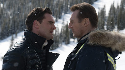Tom Bateman and Liam Neeson face off in Cold Pursuit (2019)