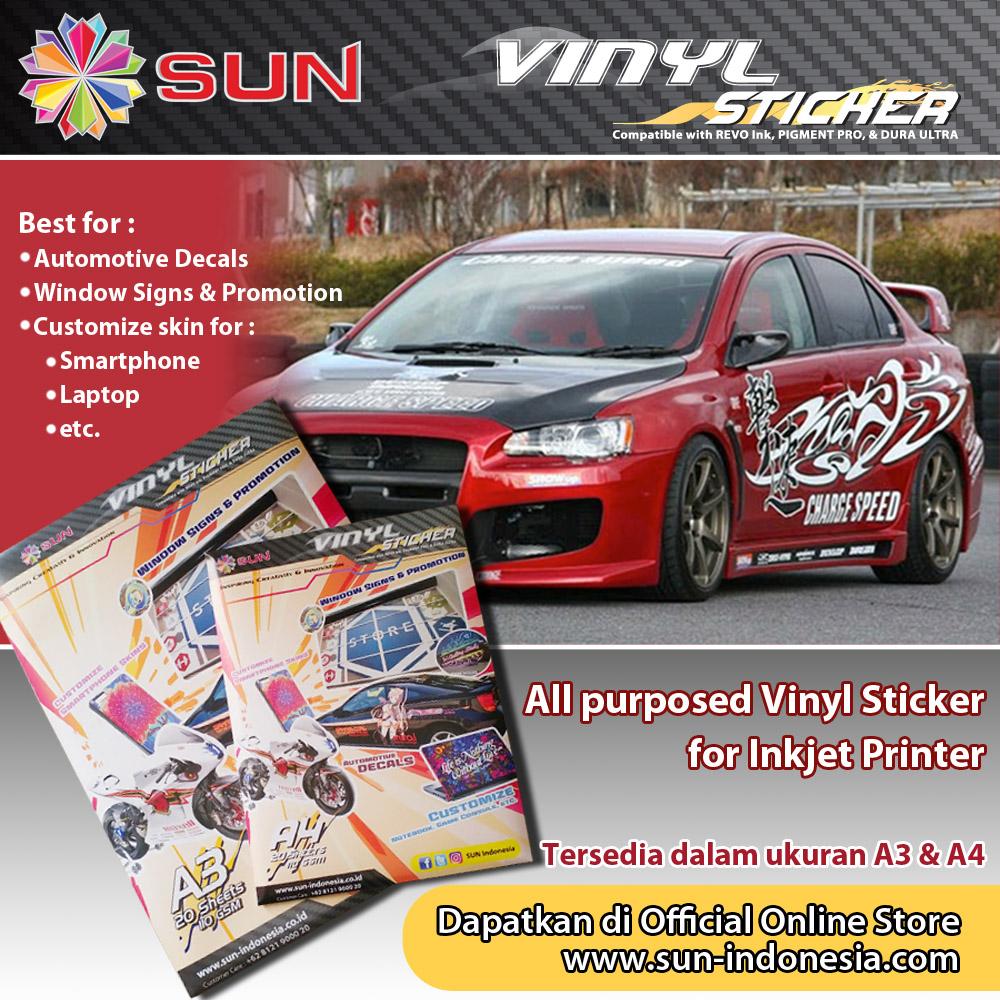 Sun vinyl sticker