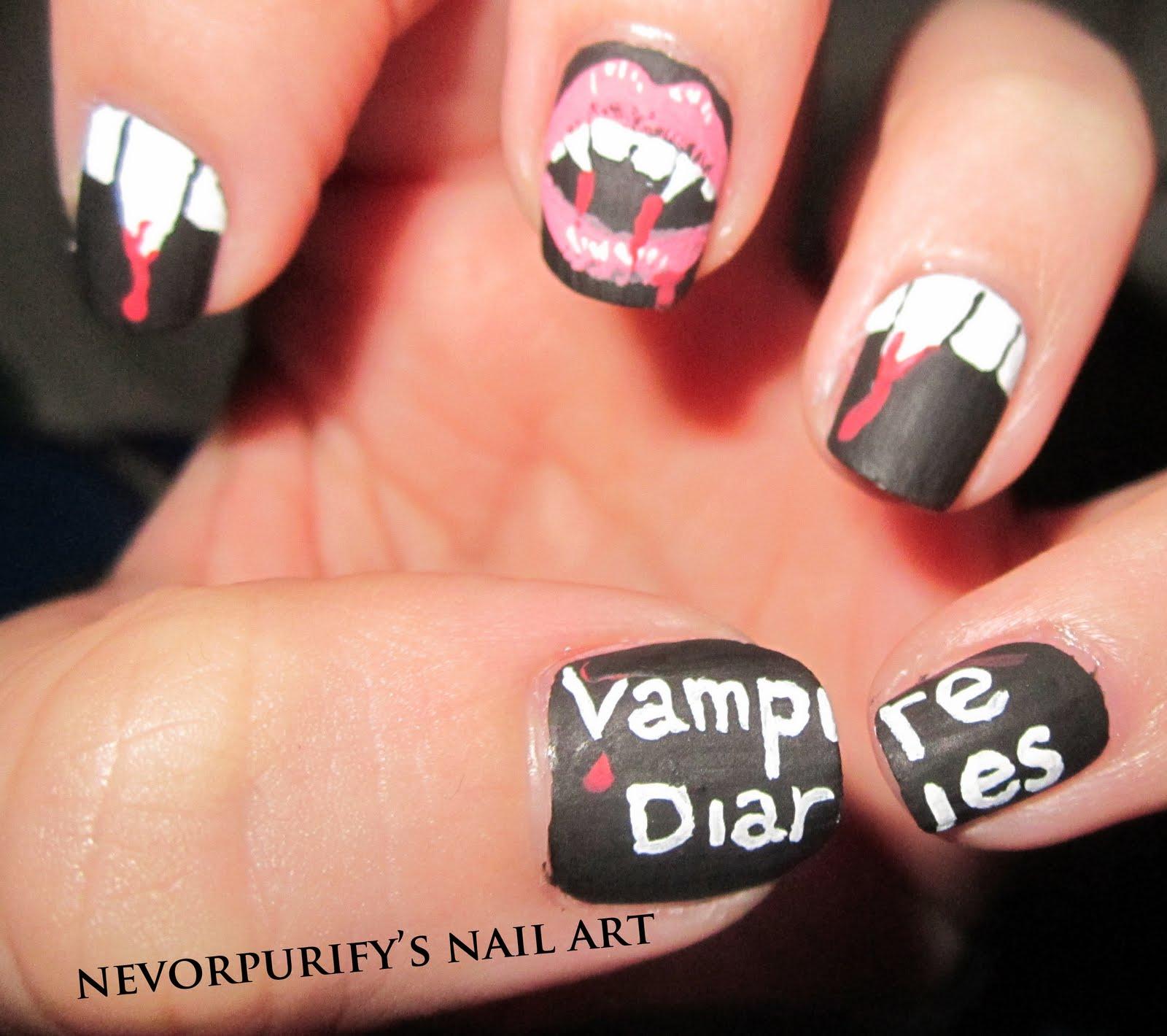 Vampire Nail Polish: Nevorpurify's Nail Art