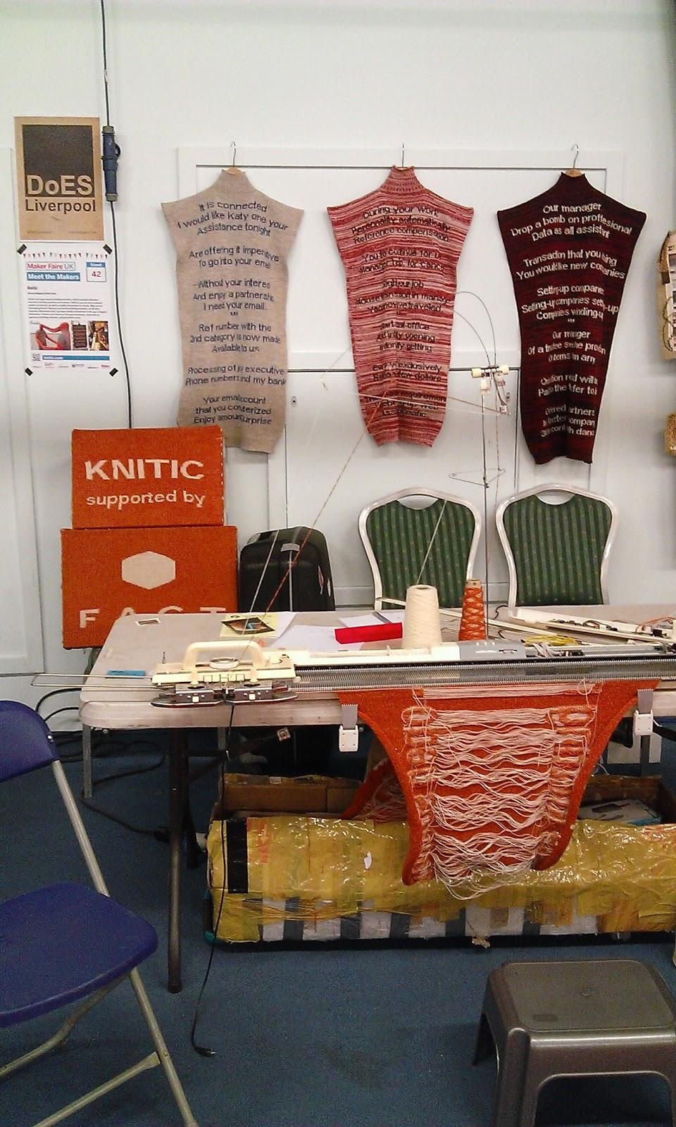 Knitic stand at Maker Faire UK
