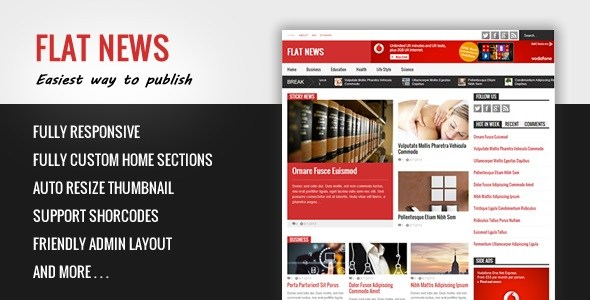 Flat News v2.6.5 – Easy News & Magazine Blogger Template