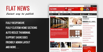 Flat News v2.6.5 – Easy News & Magazine Blogger Template