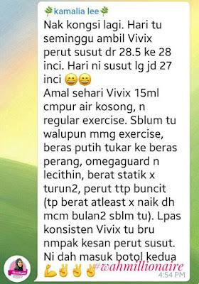 testimoni vivix untuk kempiskan perut.