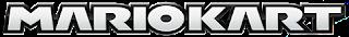 Logo Mario Kart (texto en letras blancas y borde negro)