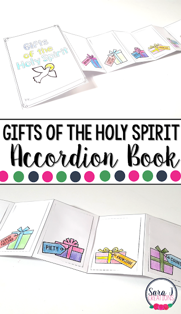 The Gifts of the Holy Spirit  Mini Book is the perfect activity for teaching kids about the Catholic Gifts of the Spirit - Understanding, Fear of the Lord, Piety, Knowledge, Counsel, Fortitude and Wisdom