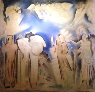 το έργο Η αποθέωση του Αθανάσιου Διάκου του Κωνσταντίνου Παρθένη στην Εθνική Πινακοθήκη