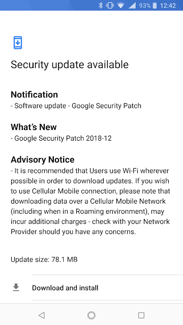 Nokia 8 Sirocco receiving december 2018 android security patch Nokia 6