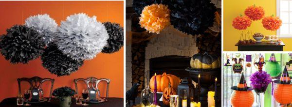 Dicas-de-Decoracao-Para-o-Dia-das-Bruxas-e-Historia-do-Halloween-pompom-e-luminaria