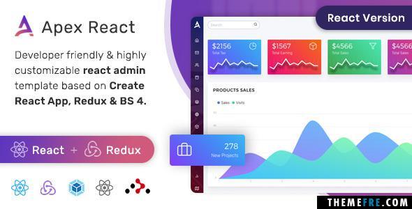 Eddy Eliot Apex - React Redux Bootstrap Admin Dashboard Template