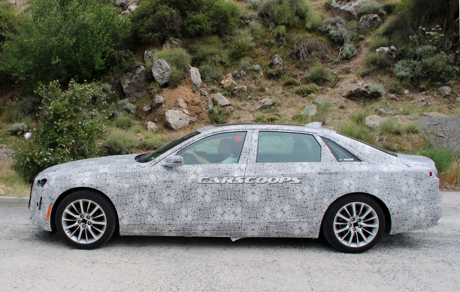 facelifted 2019 cadillac ct6 scooped in europe could come with more power carscoops. Black Bedroom Furniture Sets. Home Design Ideas