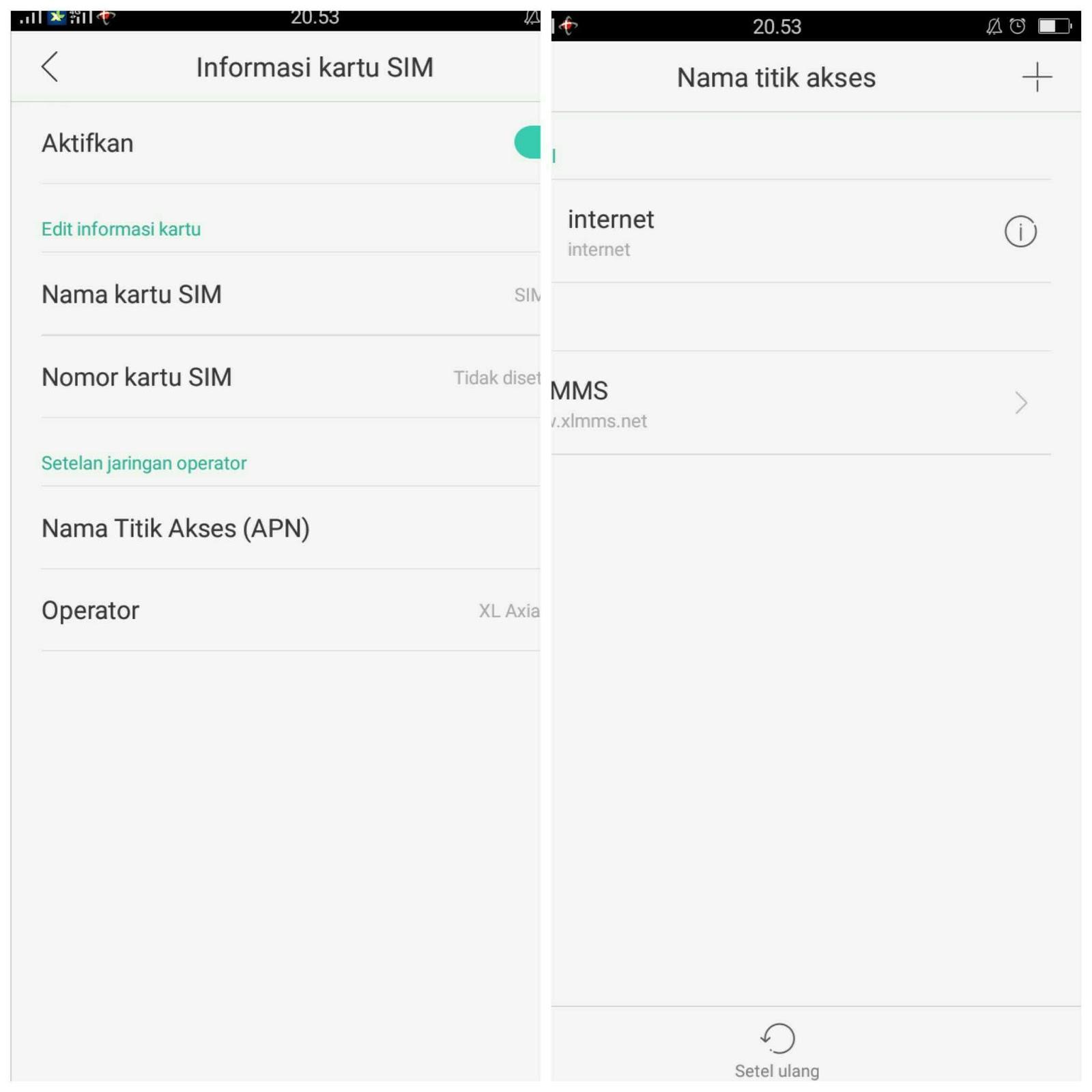 Cara setting APN Operator Telkomsel,Axis,Indosat,XL di HP