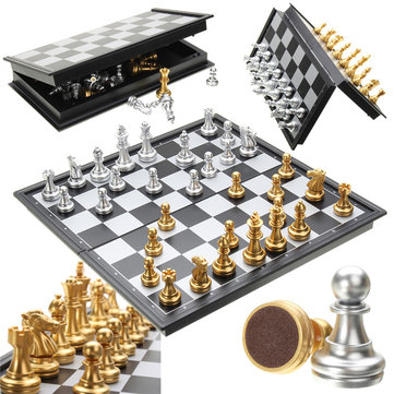 Foldable Magnetic Chess Board Game Set