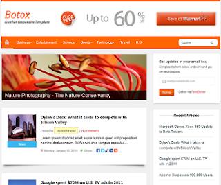 Botox Responsive Blogger Template