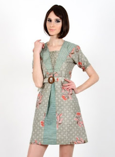 model dress batik wanita fashionable