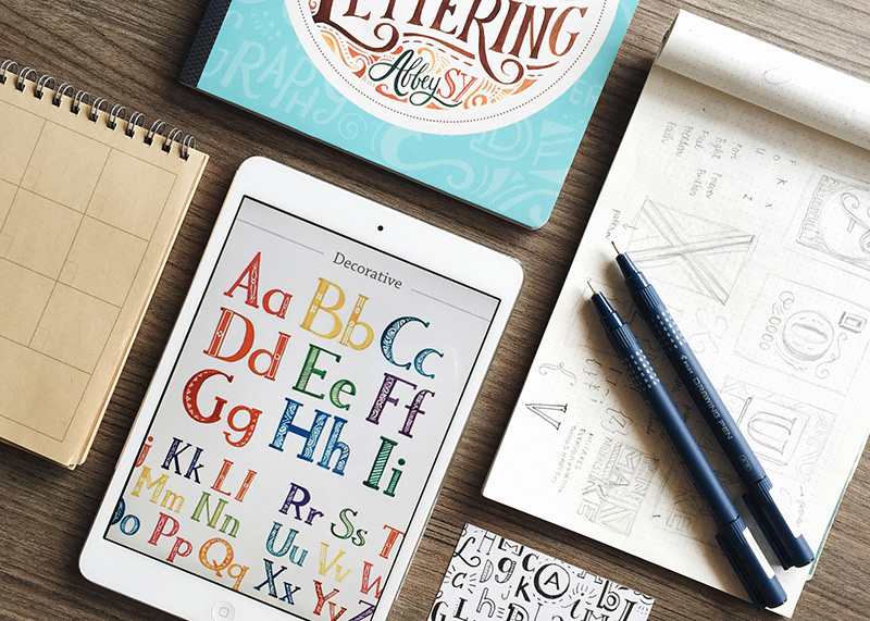 Creative chats with Abbey Sy an interview discussing creativity art lettering and illustration