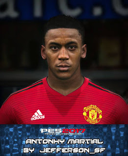PES 2017 Faces Anthony Martial by FaceEditor Jefferson_SF
