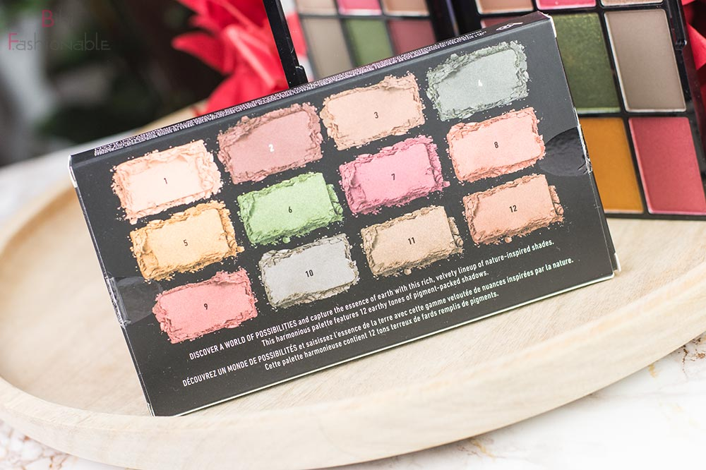 NYX In Your Element Earth Eyeshadow Palette Umverpackung Rückseite