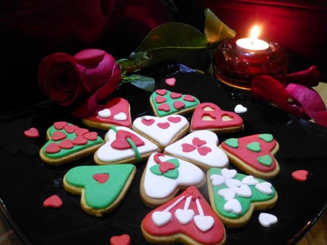 Galletas de mantequilla San Valentín