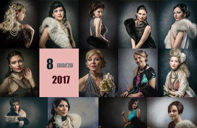 Festa della donna, sessione fotografica di ritratto Retroreal