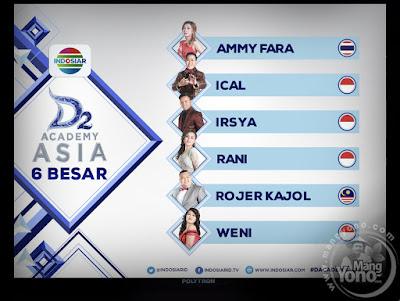 D'Academy Asia 2 babak 6 besar
