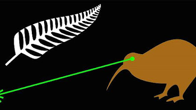 New Zealand flag suggestion Fire the Lazar. A kiwi bird fires a laser out of his eye. Laser Kiwi. marchmatron.com