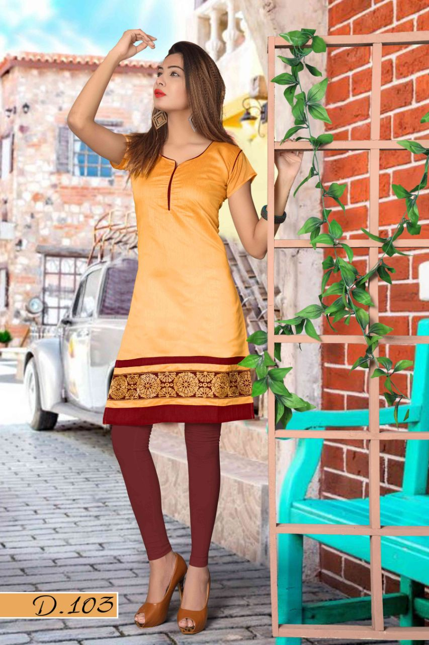 Kesar by Avashya New Arrival Designer Chanderi with cotton lining Kurtis