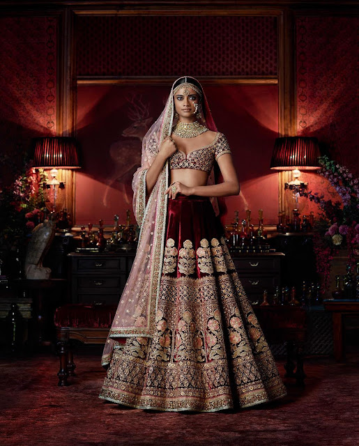 Burgundy Lehenga for a Bride to be
