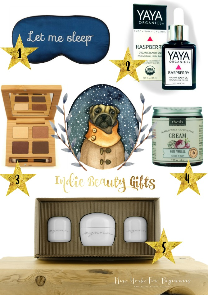 Holiday Gift Guide featuring brands from the Indie Beauty Expo