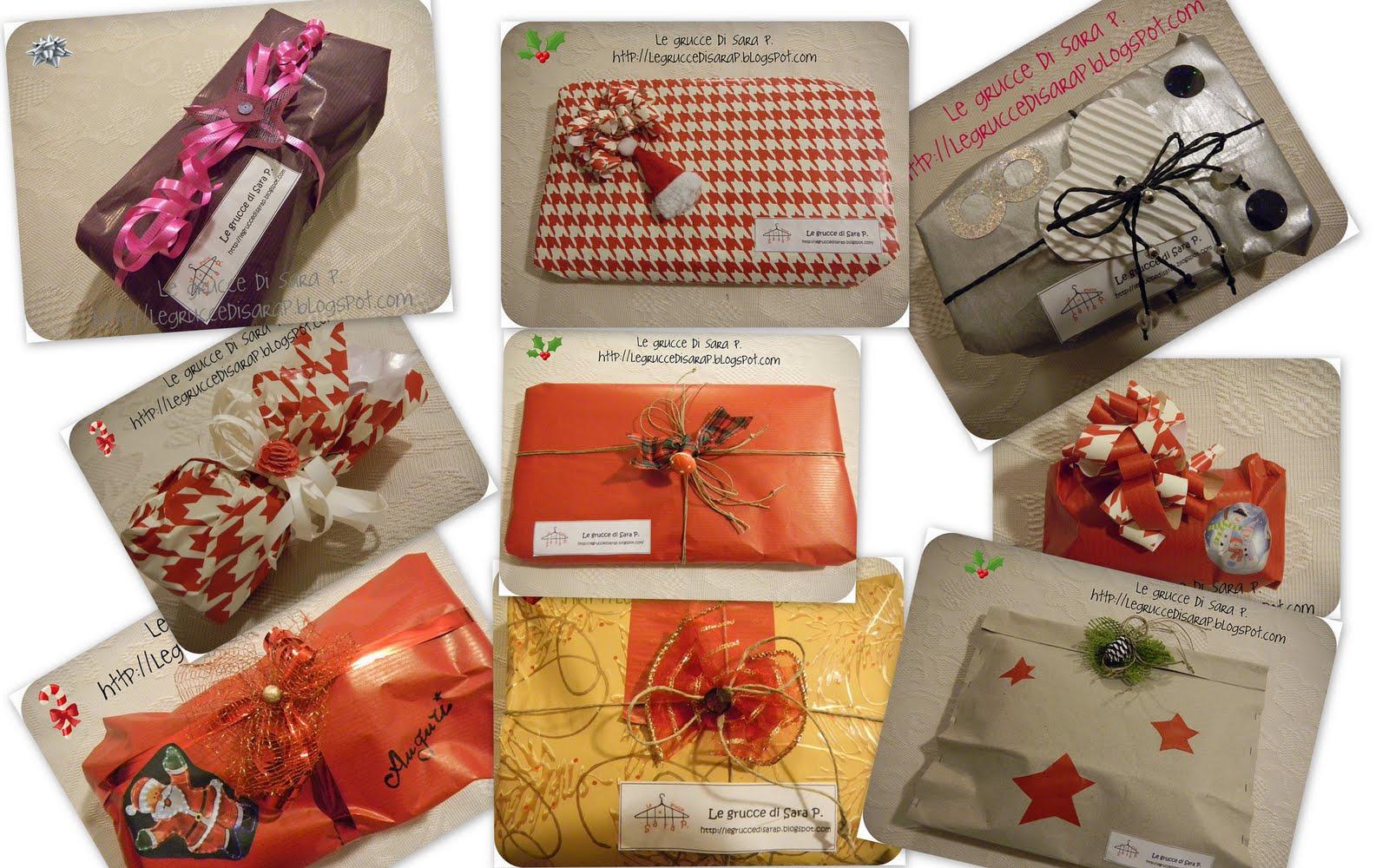 Estremamente Le grucce di Sara P.: Puzzle delle confezioni regalo per Natale 2011 HW77