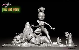 "Sh-Betty Boom & Bop _""Mars Needs Women"" - Digitial Sculpture_Character design & 3D model - ©Pierre Rouzier"