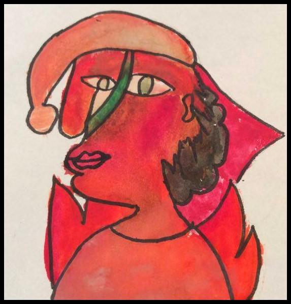 Tomte Picasso bilduppgift jul