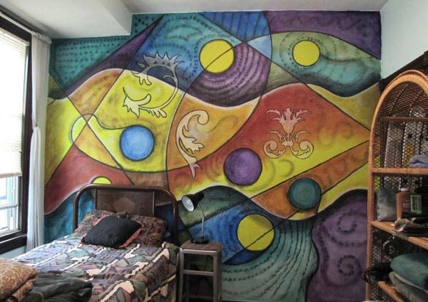 Desain Kamar Tidur Kreatif Penuh Warna