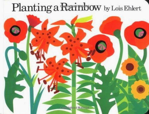 Panting A Rainbow by Lois Ehlert, part of book review list about colors and rainbows