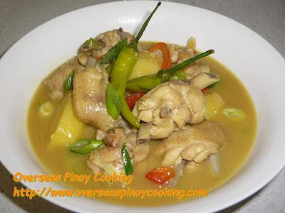 Ginataang Manok sa Dilaw Recipe