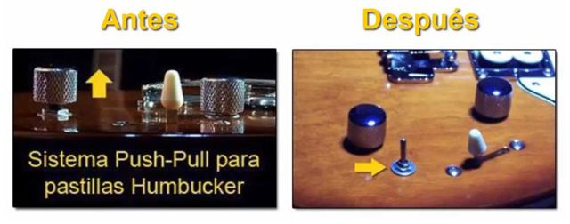 Push Pull o Switch (Conmutador) Guitarra Eléctrica