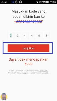 Verifikasi Nomor Handphone Money Locker