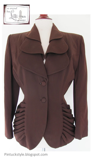 Lilli Ann 1940s jacket in brown