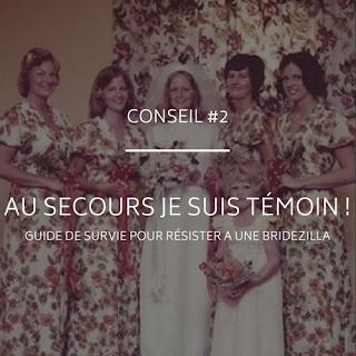 Conseils et guide de survie destiné aux témoins pour résister à une bridezilla blog mariage www.unjourmonprinceviendra26.com