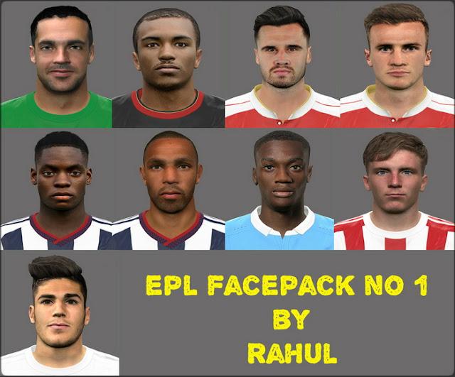 PES 2017 EPL FACEPACK NO 1 BY RAHUL
