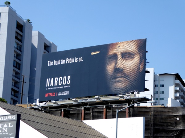 Narcos season 2 hunt for pablo billboard