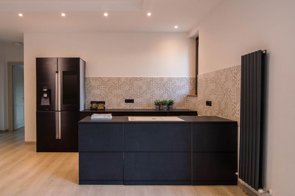 cucina in cartone per l'home staging