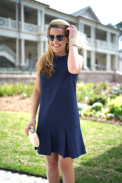 sail to sable navy blue tweed dress
