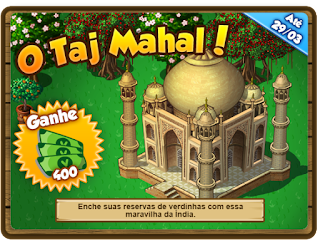 Missão: O Taj Mahal!